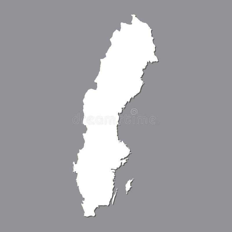 Blank map Sweden. High quality map of Sweden on gray background for your web site design, logo, app, UI. Stock vector. Vector illustration EPS10 royalty free illustration