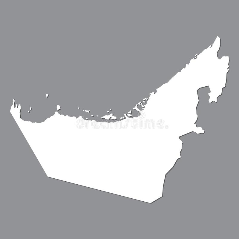 Blank map United Arab Emirates. High quality map of United Arab Emirates on gray background for your web site design, logo, app,. UI. Stock vector. Vector vector illustration