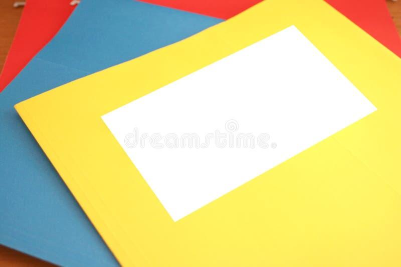 blank mapp fotografering för bildbyråer