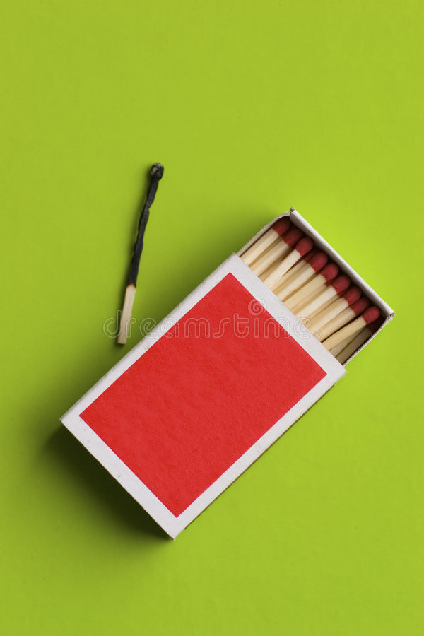 Blank matchbox open stock photo