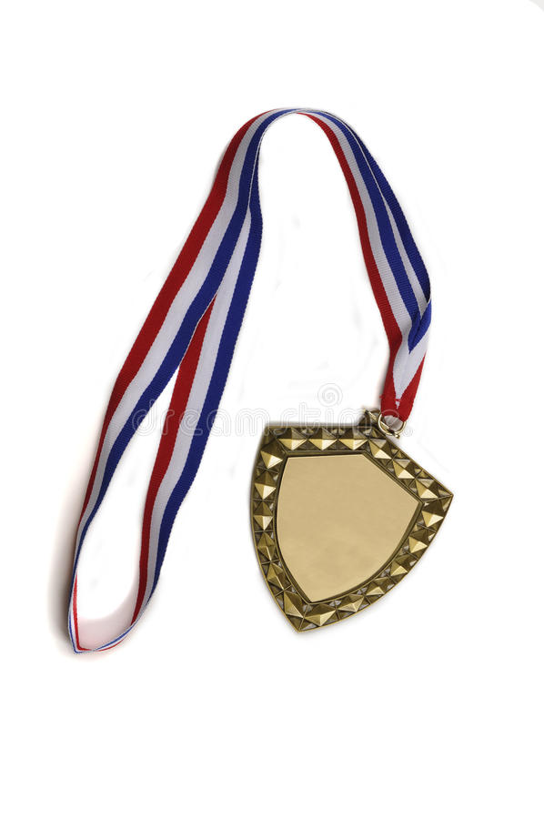 Blank Medallion With Ribbon Royalty Free Stock Photo
