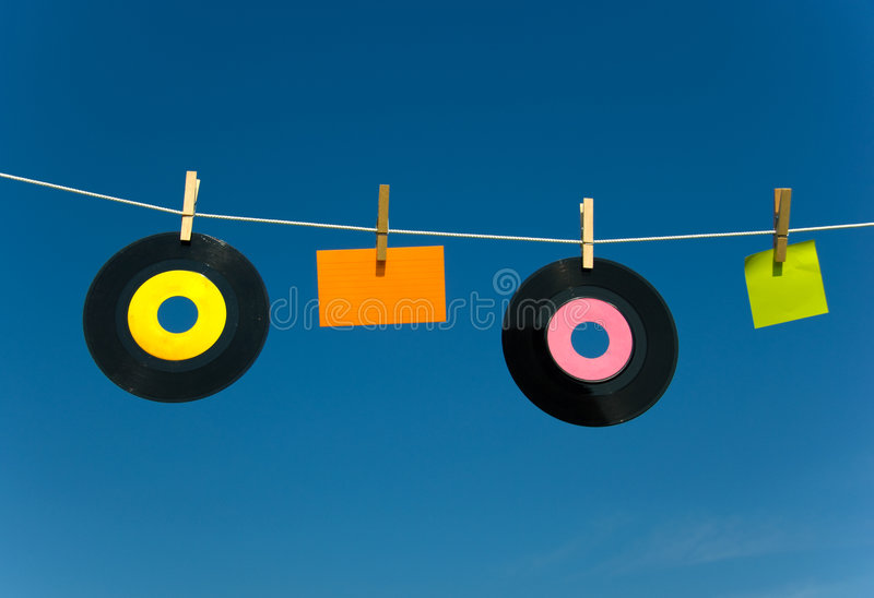 Download Blank media on clotheline stock image. Image of insert - 2804253