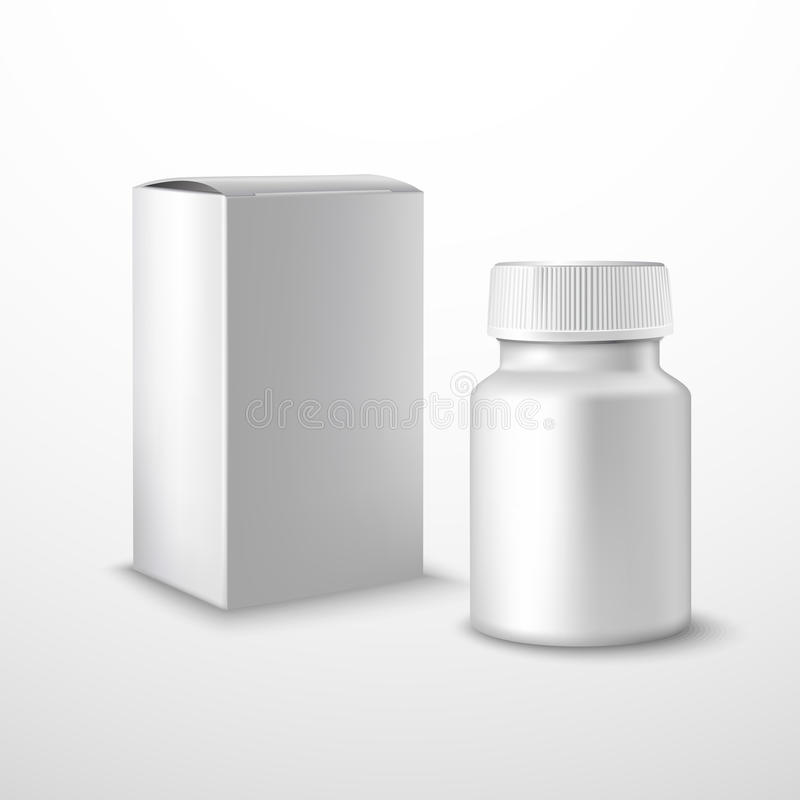 Blank medicine bottle stock illustration