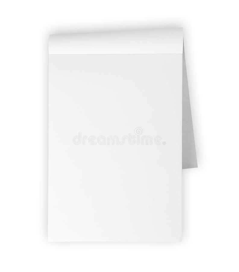 Blank Memo Pad Isolated On White Stock Image  Image Of Note Clean