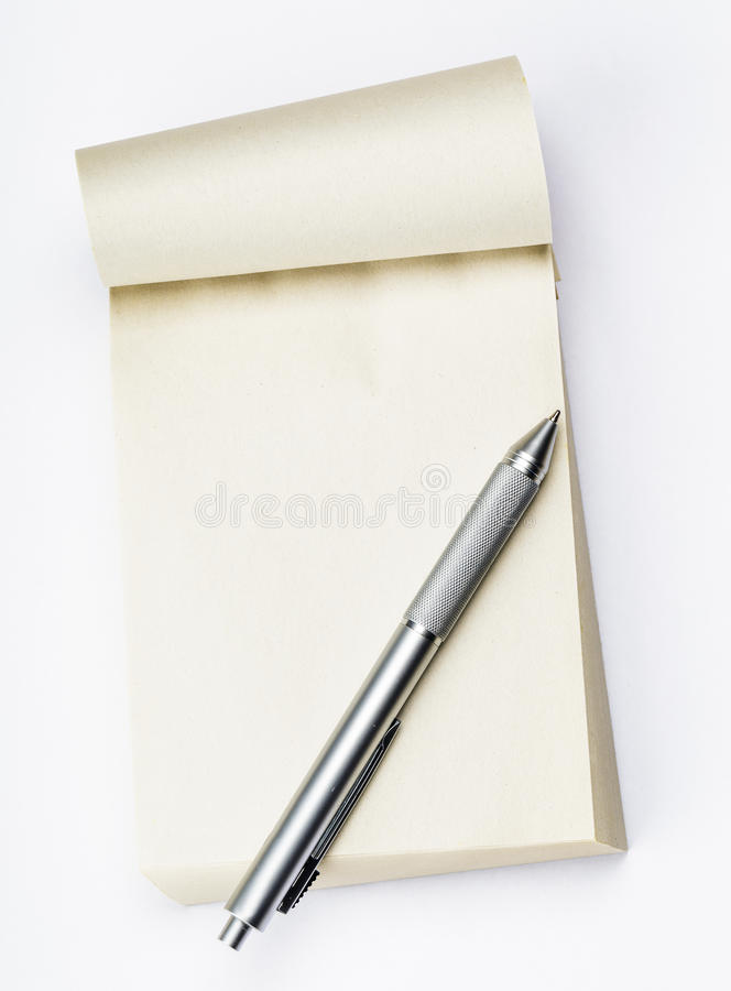 Blank Memo Pad With Pen Stock Image Image Of Book Clean