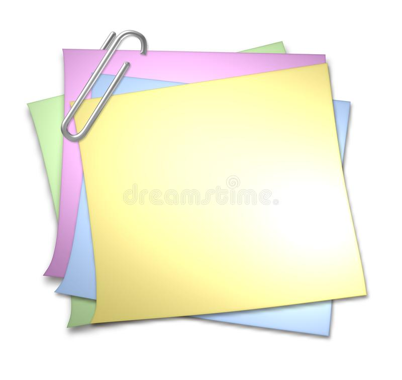 Blank Memo With Paper Clip Stock Illustration Illustration Of Image