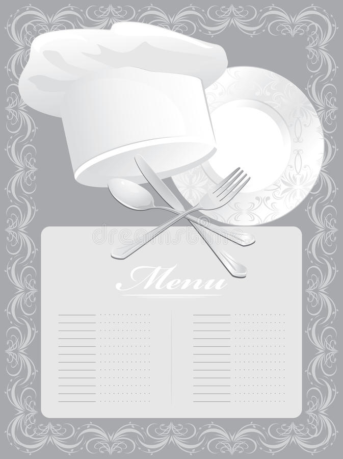 download blank for menu card stock vector illustration of equipment 22444890