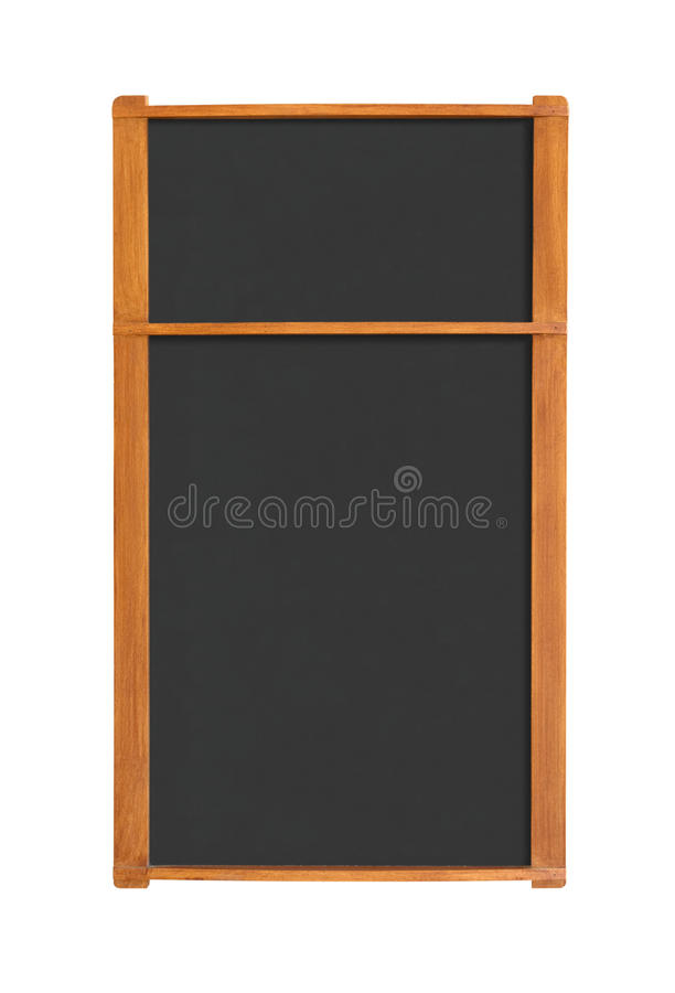 Blank Menu Chalkboard With Two Sections Cutout Stock Image
