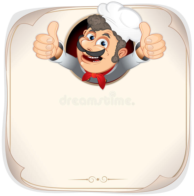 Download Blank Menu with Cook stock vector. Image of gesturing - 20048064