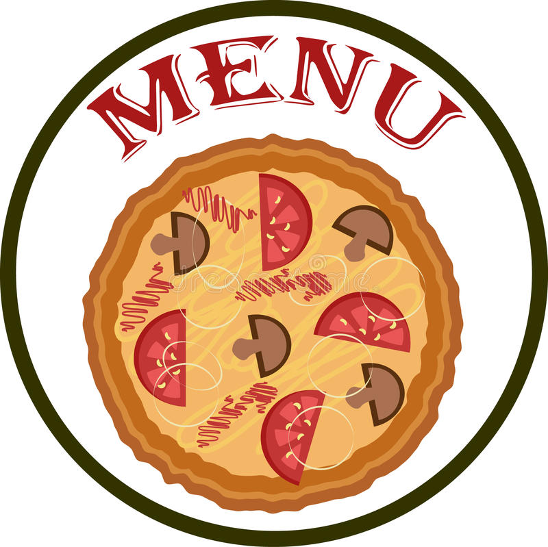 Blank menu with pizza stock photography