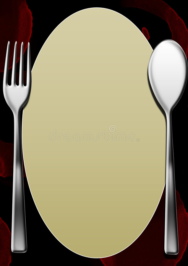Download A Blank Menu Template With Wine Stains Stock Illustration - Illustration: 7570078