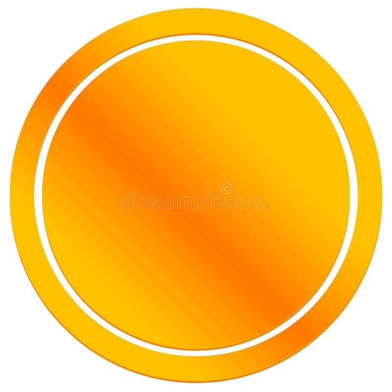 Blank metal badge, emblem icon. Metallic circle button. royalty free illustration