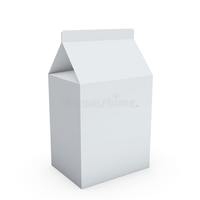 Download Blank milk box stock illustration. Image of empty, pack - 22210093