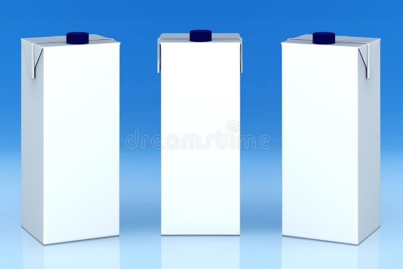 Download Blank milk boxes stock illustration. Illustration of blank - 19315457