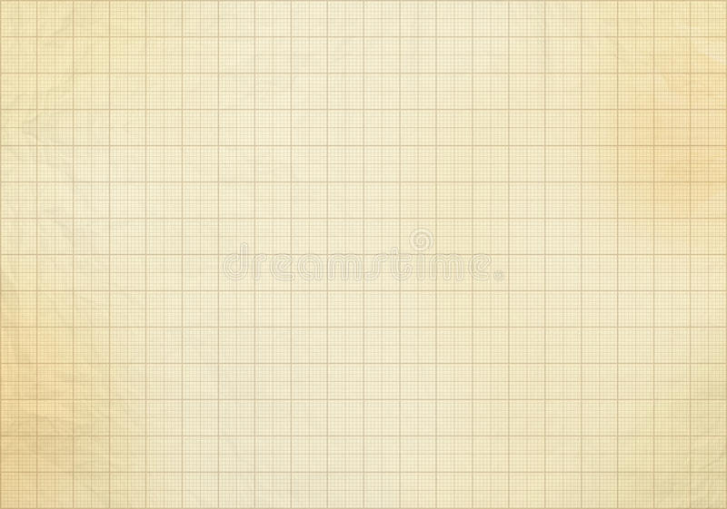blank millimeter old graph paper stock illustration