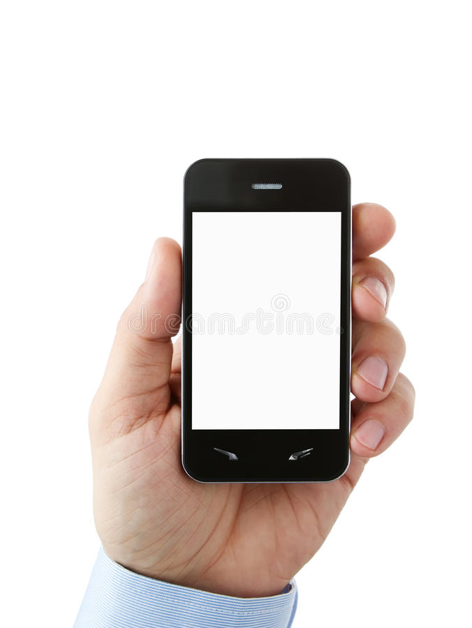 Free Blank Mobile Phone With Clipping Path Royalty Free Stock Photography - 22233767