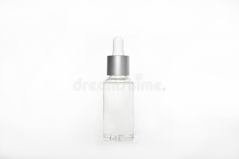 Blank mock up advertising with copy space of the dropper bottle royalty free stock photos