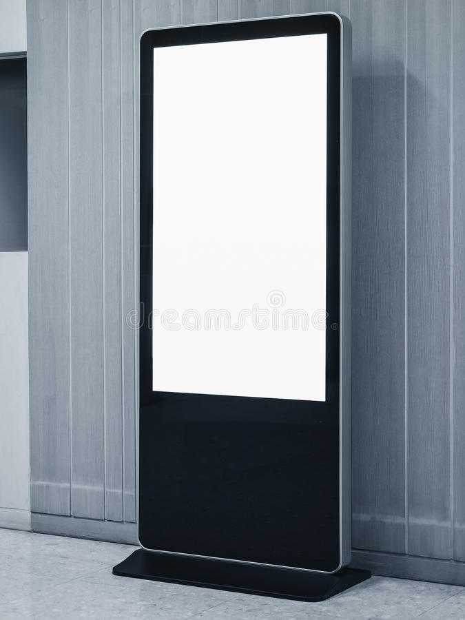 Free Blank Mock Up Banner Stand Media Display Signage Indoor Stock Image - 87092061