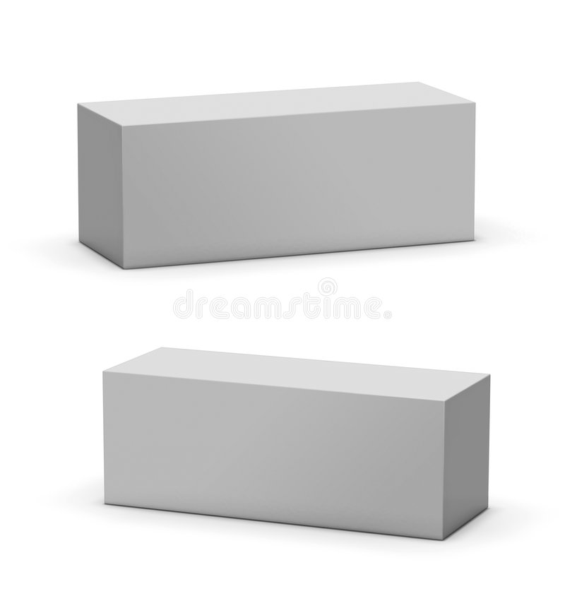 Blank Mock-up Box royalty free illustration