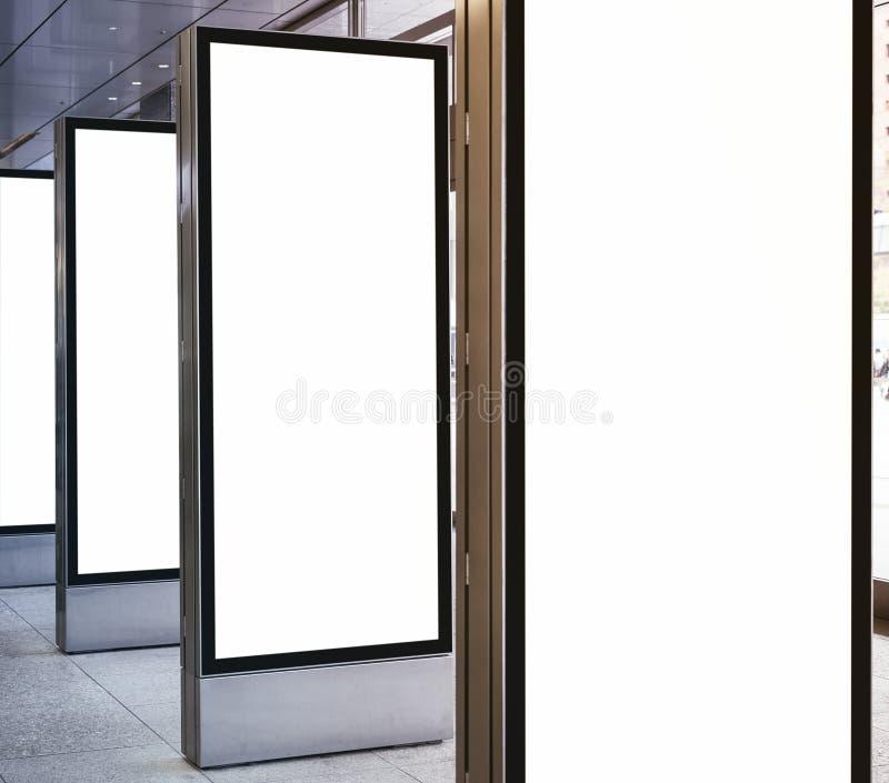 Stand Up Lights: Blank Mock Up Light Box Set Vertical Sign Stand Display