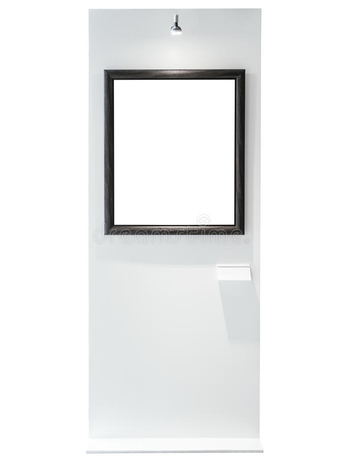 Blank Mock Up Picture Frame With Spot Light Gallery Exhibition Stock ...