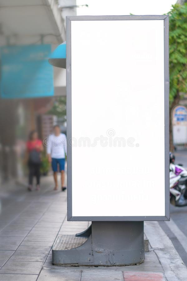 Blank mock up street billboard posters or advertising poster for advertisement concept background.  stock image