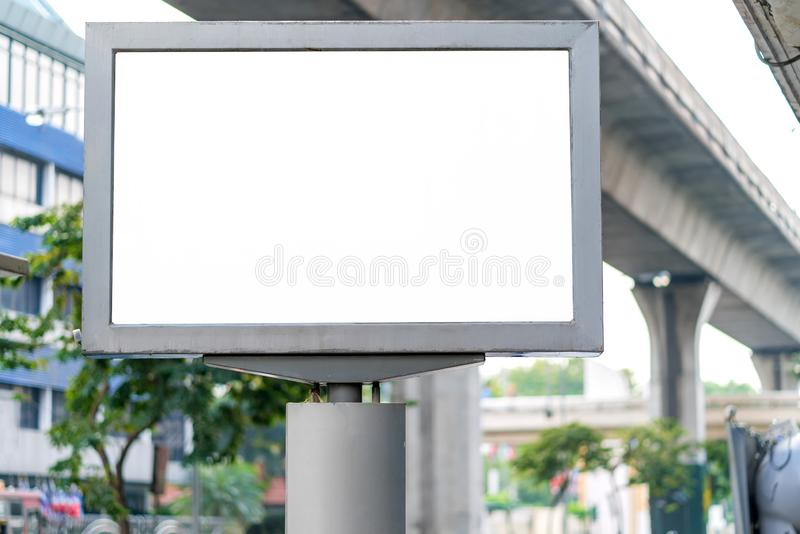 Blank mock up street billboard posters or advertising poster for advertisement concept background.  stock photography