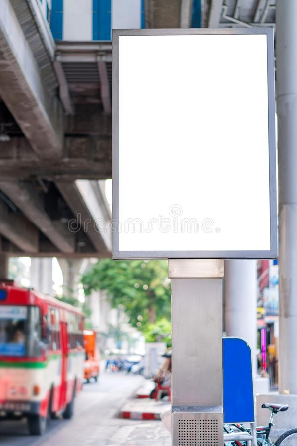 Blank mock up street billboard posters or advertising poster for advertisement concept background.  royalty free stock image