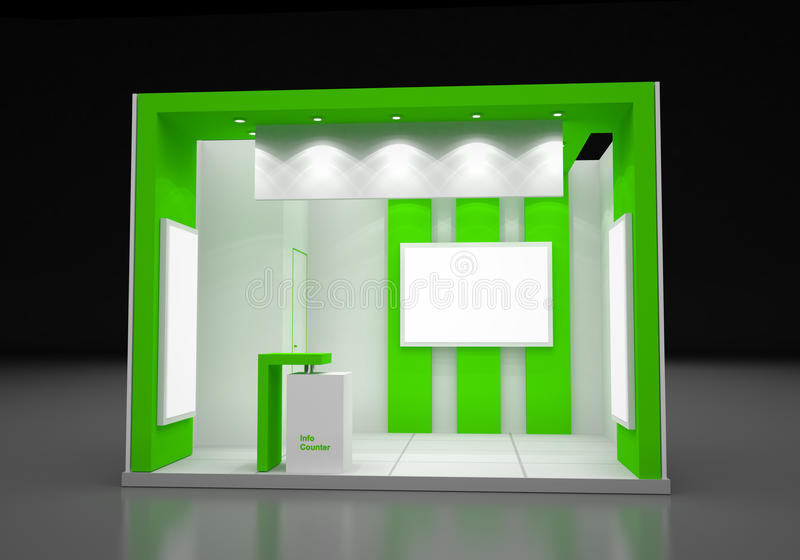 Modern Exhibition Booth Design : Blank modern booth exhibition design concept stock