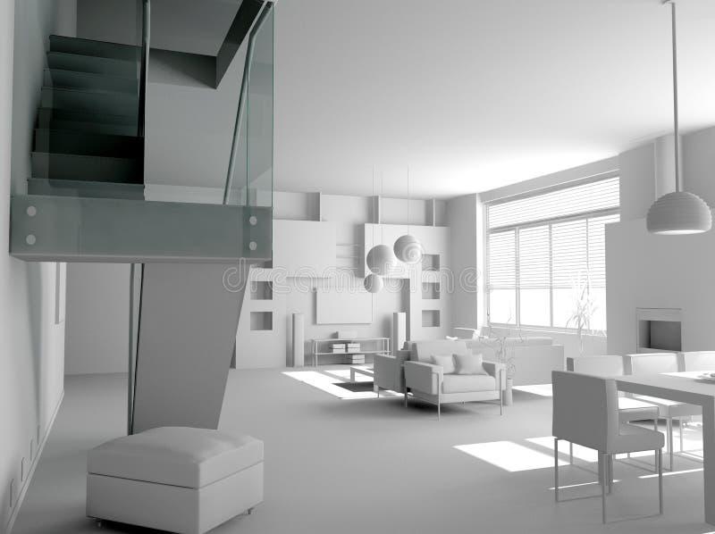 Download Blank modern interior stock image. Image of modern, light - 2631399