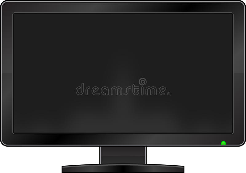 Download Blank Monitor stock vector. Image of entertainment, crystal - 21644385