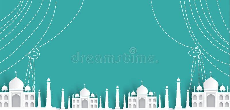 Blank Mosque Text Background, Modern Elegant Islamic Design Stock Vector -  Illustration Of Decorative, Islamic: 113987770