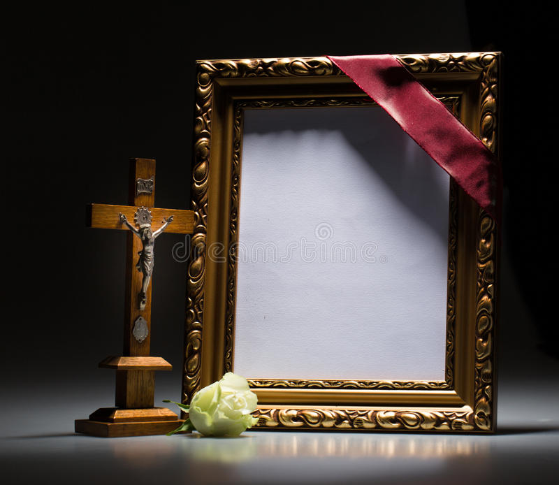 Blank Mourning Frame For Condolence Card Stock Image - Image of card ...
