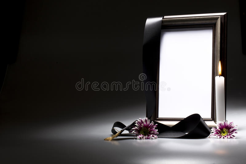 Blank mourning frame for sympathy card. For sympathy card blank mourning frame royalty free stock images