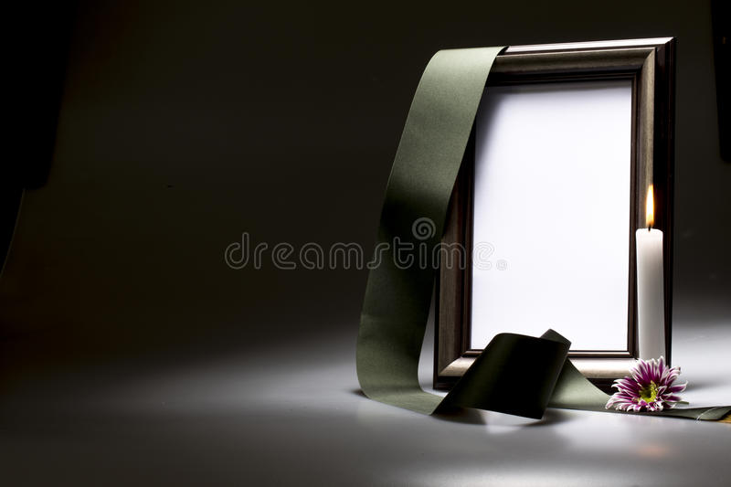 Blank mourning frame for sympathy card. For sympathy card blank mourning frame stock image