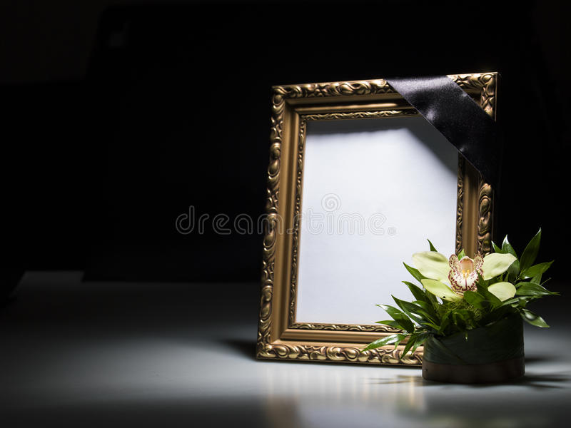 Blank Mourning Frame For Sympathy Card Stock Image - Image of memory ...