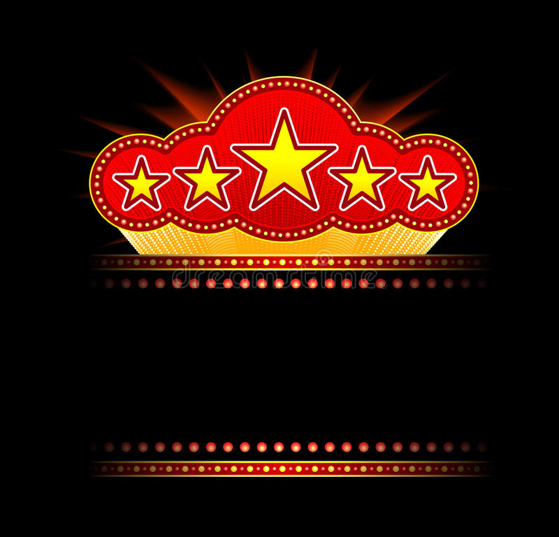 Download Blank Movie, Theater Or Casino Marquee Royalty Free Stock Photography - Image: 18379147