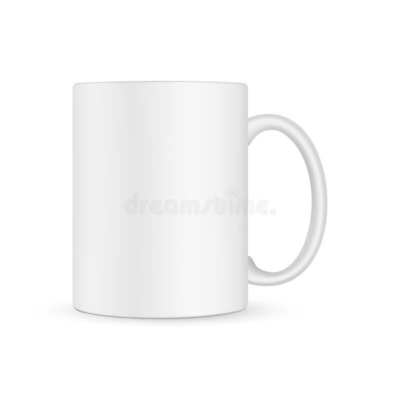 Blank White Mug Stock Vector. Illustration Of Domestic
