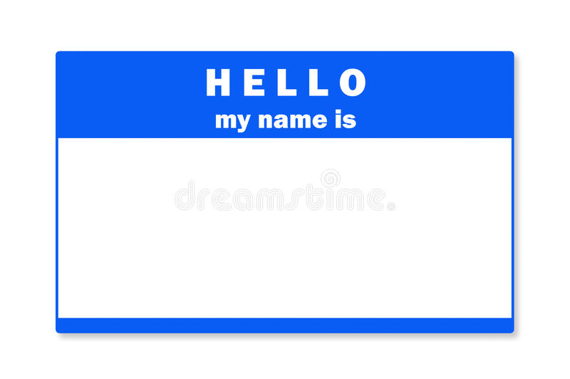 Blank name tag royalty free stock image