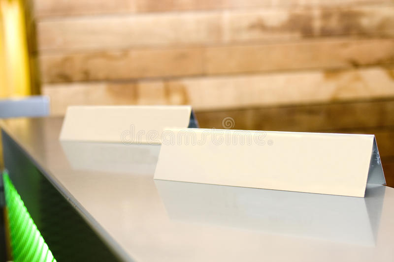 Blank name tags stock photo