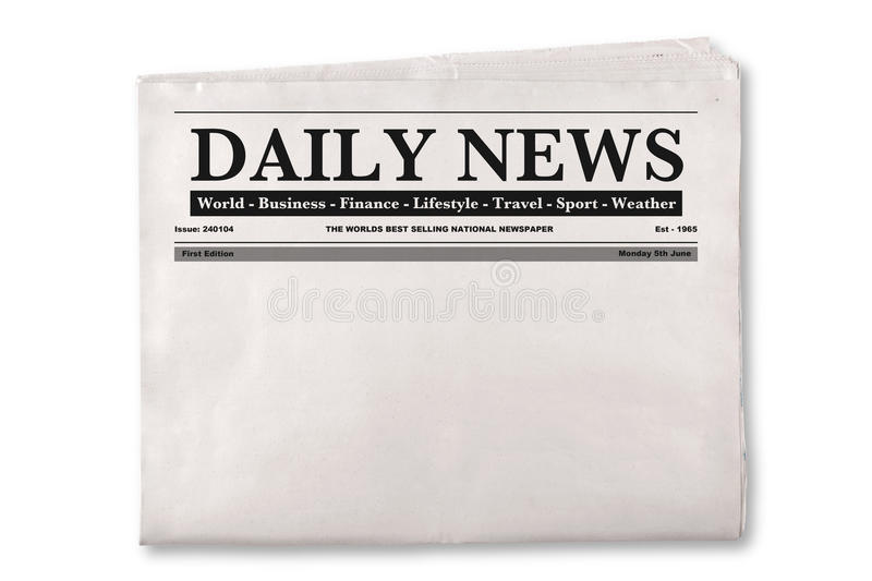 Download Blank Daily Newspaper stock photo. Image of broadsheet - 29088722