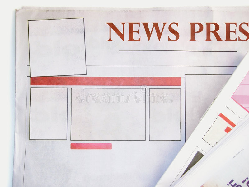 Blank newspaper stock image