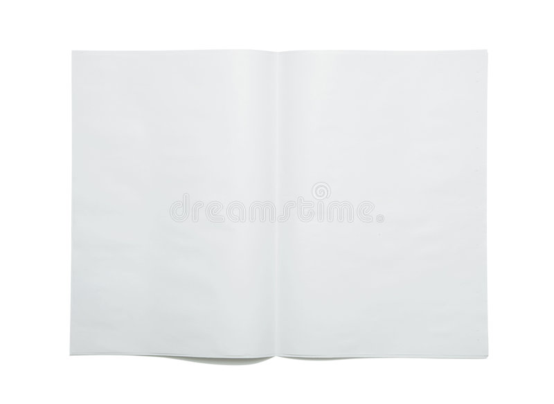 Blank newspaper spread stock photo