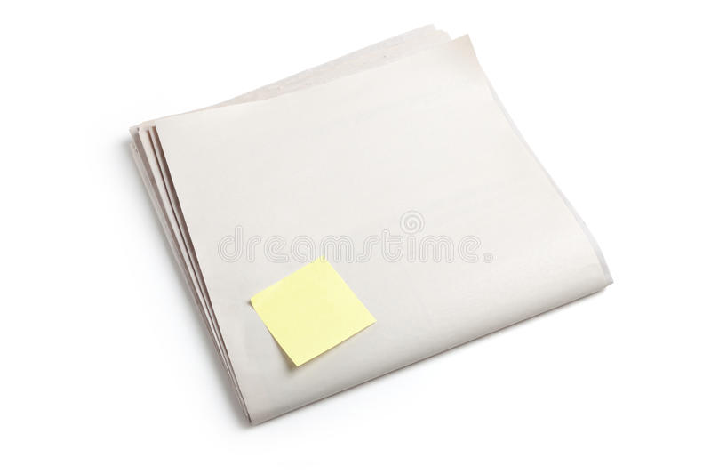 Blank Newspaper royalty free stock images