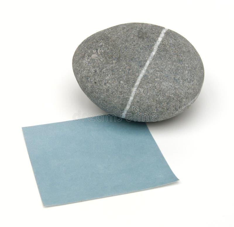 blank notatki kamienia wagi zdjęcie stock