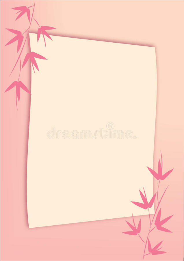 Download Bamboo background stock vector. Image of background, text - 24782262