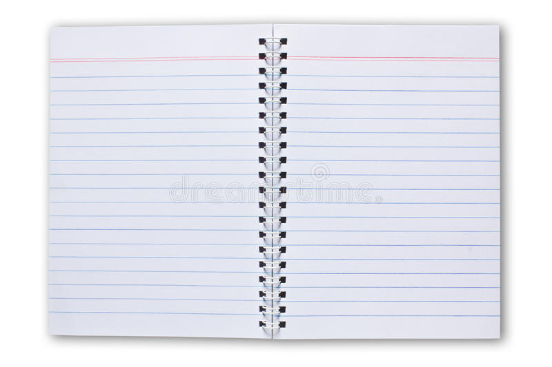 Blank Note Book Isolated On White Background. Blank Note Book For write anythings in it stock photos