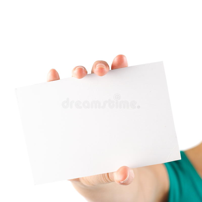 Blank note card royalty free stock photo