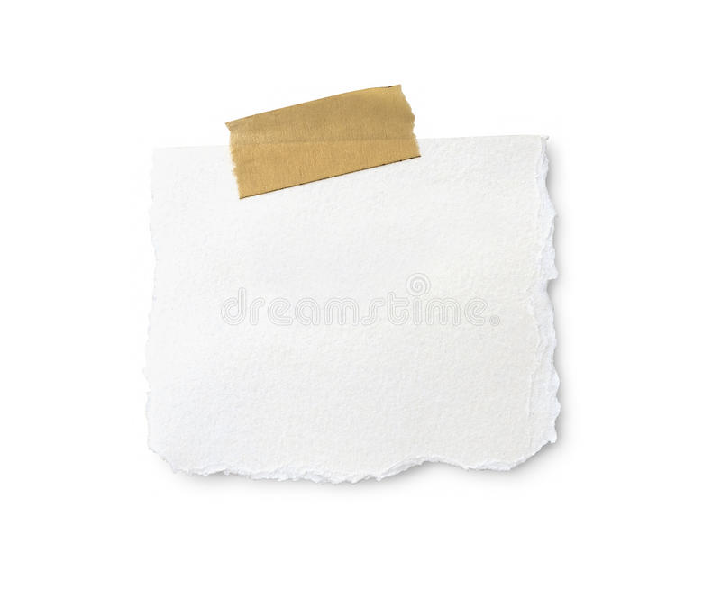 Blank note with a clipping path. royalty free stock image