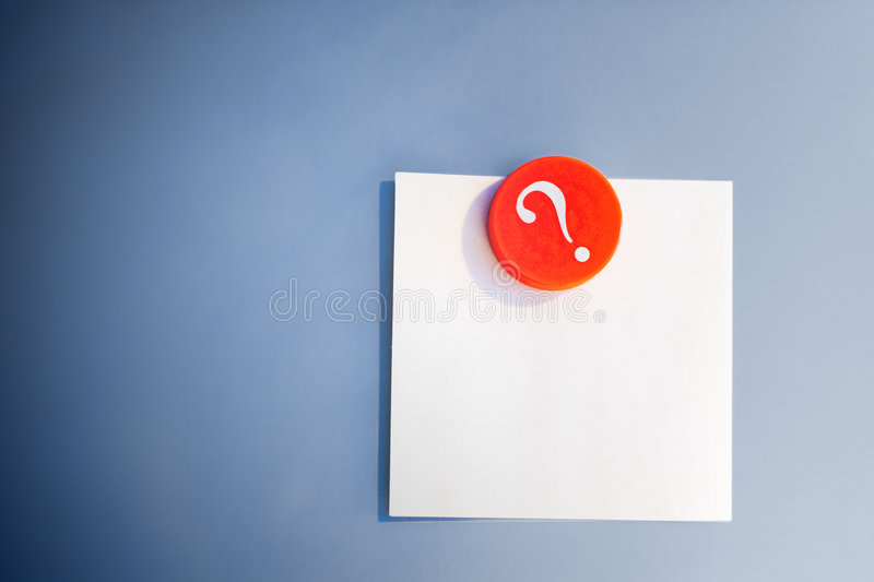 Blank Note And Magnet Stock Images
